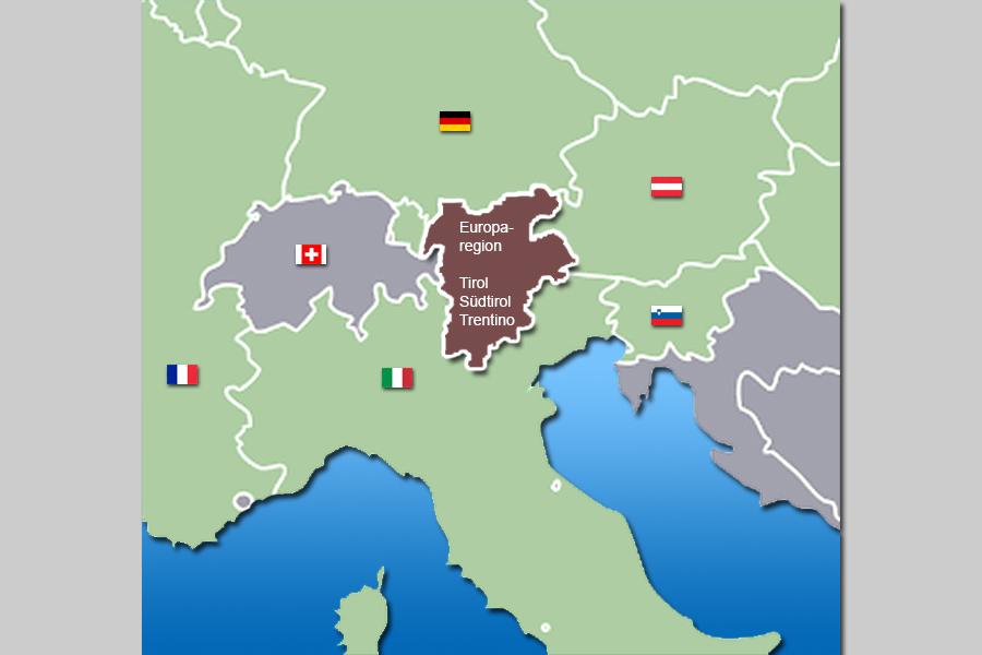 Karte f r s dtirol und tirol relief und panorama landkarte for Wellnesshotel deutschland designhotels