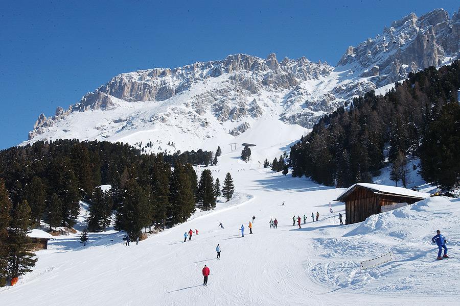 Skispaß in Obereggen bei Bozen, Südtirol