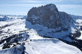 Langkofel mit Skigebiet